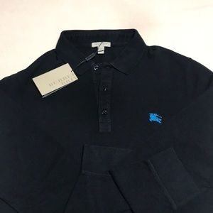 Long sleeve polo shirt by Burberry Brit. XXL